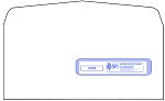 "#10-1/2"" CMS-1500 Envelope, Regular Seal, BLANK"