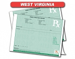 West Virginia State Authorized Rx Pads,2 Part, 50 per set, 18 pad min