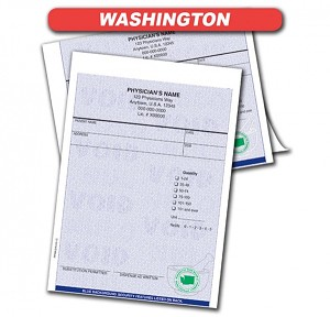 Washington State Authorized Rx Pads,1 Part, 100 per pad, 12 pad min