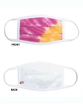 Tie Dyed Pink/Orange Facemask - minimum is 10 masks