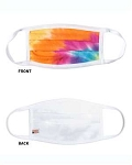 Tie Dyed Rainbow Facemask - minimum is 10 masks