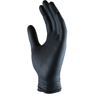 Nitrile Gloves - In stock black size large 5mm- sold per box of 100