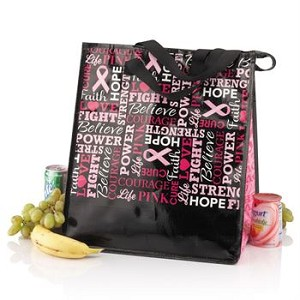 "Laminated Insulated Shopper Tote / Product Size: 13"" X 14.125"" X 9 1/2"