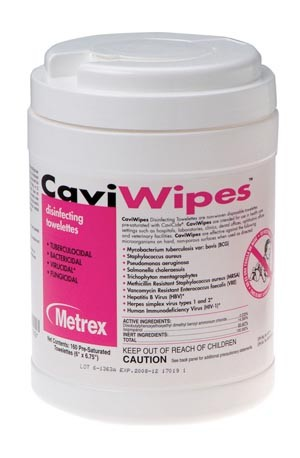 CaviWipes, 160 Wipes, 12 canisters/cs  - sold by the case of 12 canisters