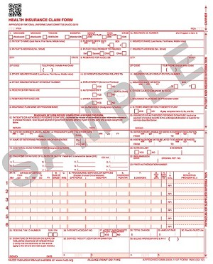 CMS-1500 Form (New 02/12 version), Laser, 8.5 x 11, 2500/bx