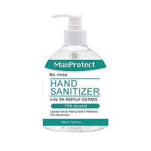 Gel Hand Sanitizer 75% Alcohol 17oz pump top bottle 4 bottle Minimum