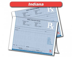 Indiana State Authorized Rx Pads,1 Part, 100 per pad, 12 pad min