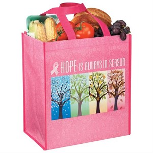 "Laminated Eco-Shopper Tote / Min. 50 qty / Product Size: 12"" X 13"" X 7 1/2"